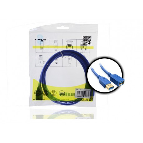 CABLE USB 3.0 H/M 1.5 Mts