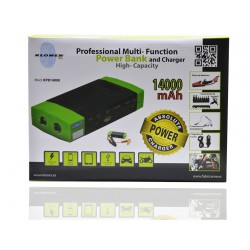 POWER BANK 14000 mAh Multi Funtion + Arrancador de Coche