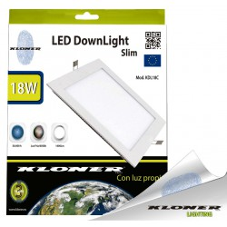 Panel Donwlight slim LED Cuadrado 18W