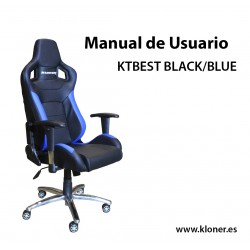 MANUAL DE USUARIO DE LA SILLA GAMING KTBEST BLACK/BLUE