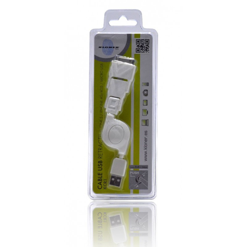 Cable Retractil Iphone