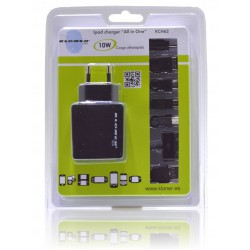 "CARGADOR UNIVERSAL USB PARA IPAD ""ALL IN ONE"""