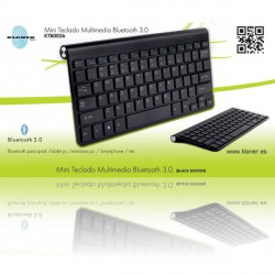 MINI TECLADO MULTIMEDIA BLUETOOTH 3.0 NEGRO