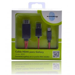 CABLE HDMI-microUSB MHL PARA SAMSUNG GALAXY SIII, SIV, NOTE