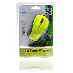 RATÓN WIRELESS 3D VERDE FLORESCENTE