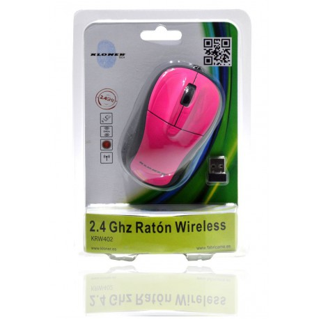 RATÓN WIRELESS 3D ROSA FLORESCENTE