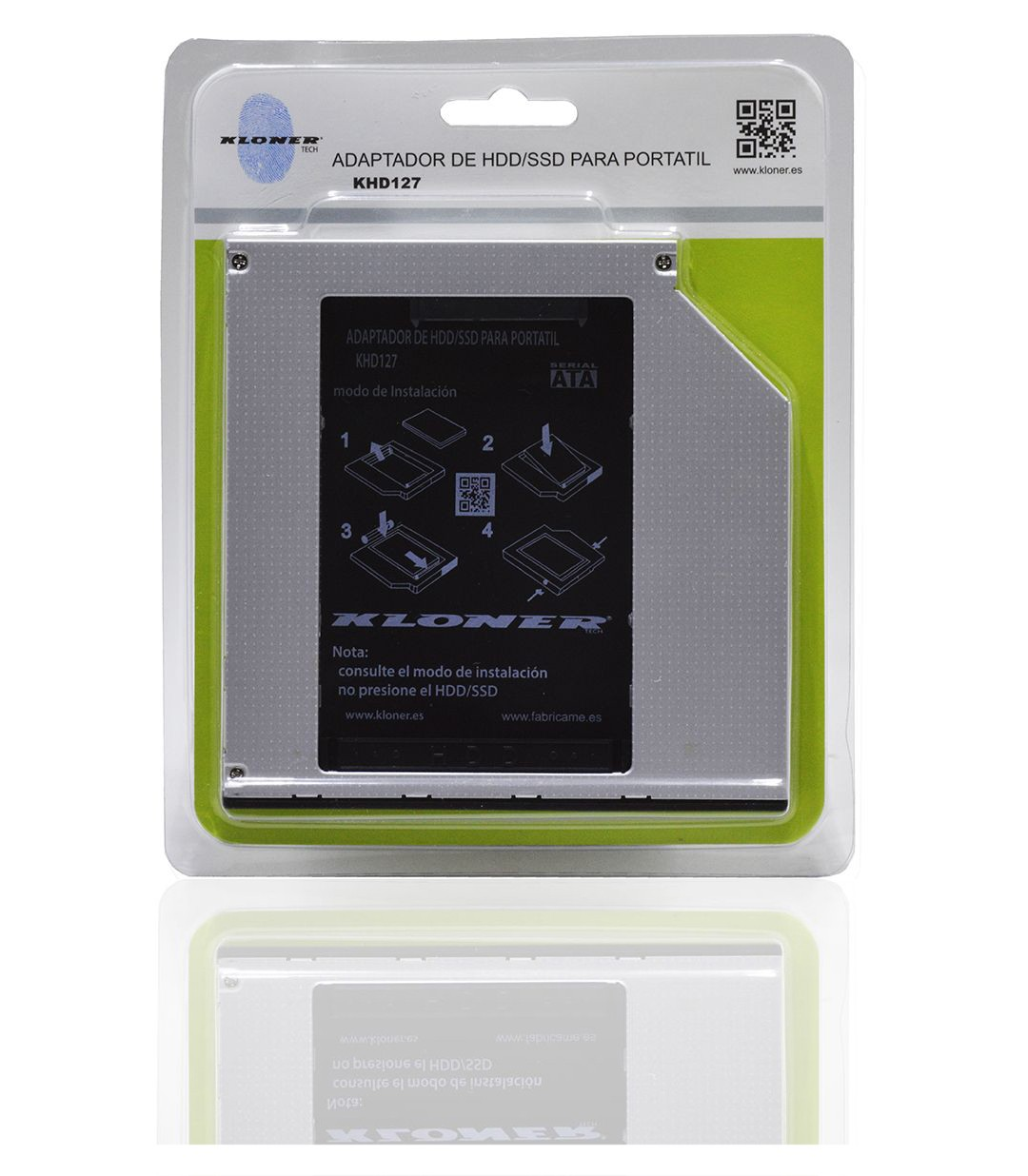 ADAPTADOR HDD/SSD PARA PORTATIL 12.7mm - New Web Kloner