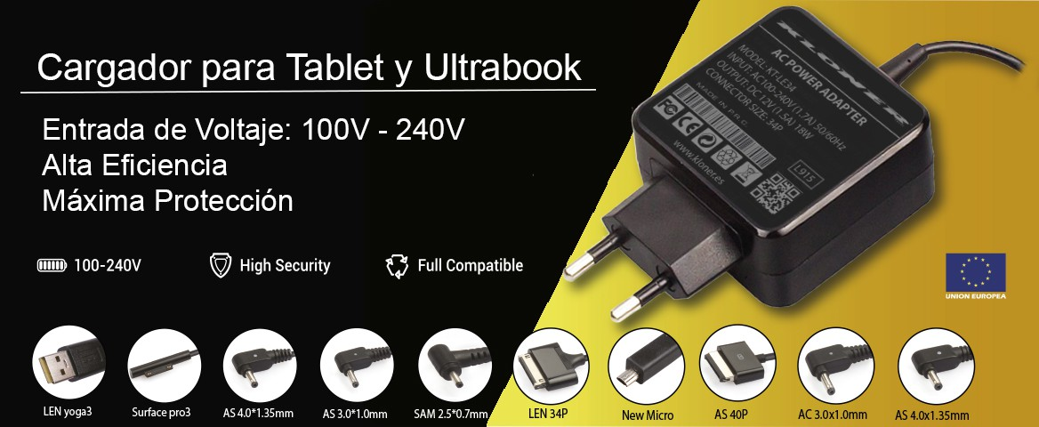 Cargador de Tablet y Ultrabook